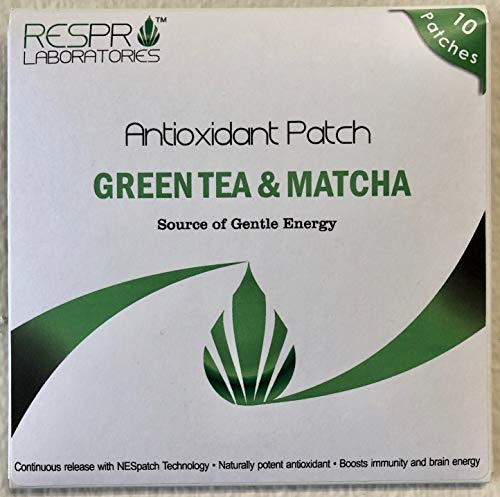 Respro Labs Natural Antioxidant Patch with Green Tea (EGCG) & Matcha, Continuous Release - 10 Patches