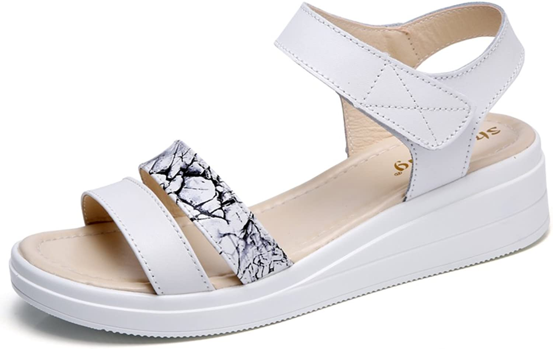 MET RXL Lady,Summer,Wedge Sandals Comfortable,Middle Heel Sandals