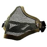 QMFIVE Taktische stahlmatten Masken hälfte Gesichtsmaske schutzkleidung für Airsoft Paintball...