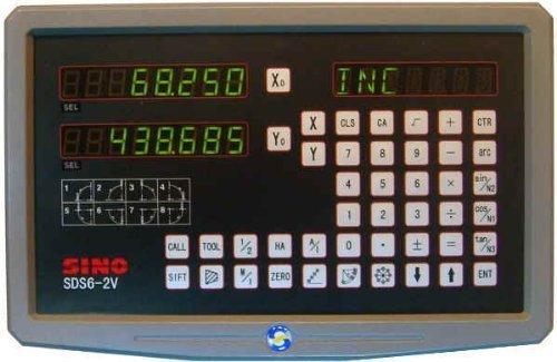 SINO Digitalanzeige für Werkzeugmaschinen / Zur Darstellung von zwei Achsen / Typ SDS6-2V