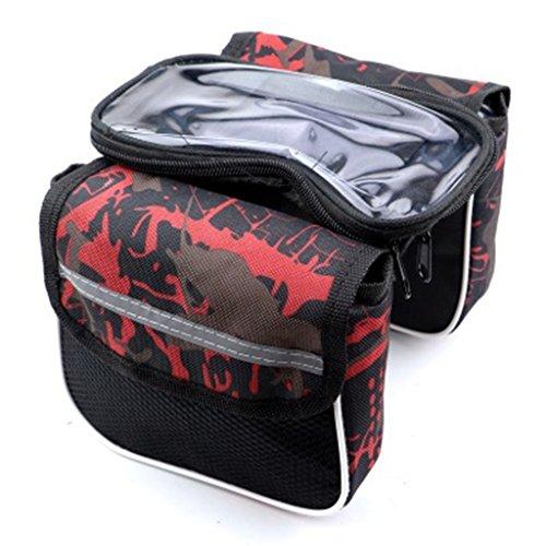 SJJ&GLL Folding Bike Bag MTB Fiets Front Frame Tube Telefoon Houder Outdoor Fietstas Zak Mobiele Telefoon Opslag Fiets Accessoires (Kleur : C)