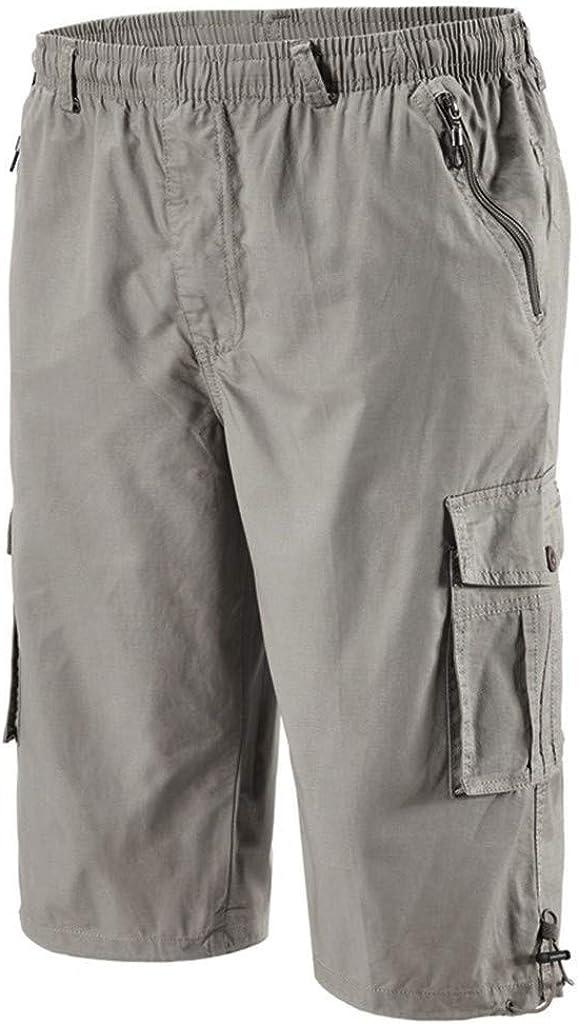 ZCAITIANYA Men's Shorts Classic Multi-Pocket Version Cropped Trousers