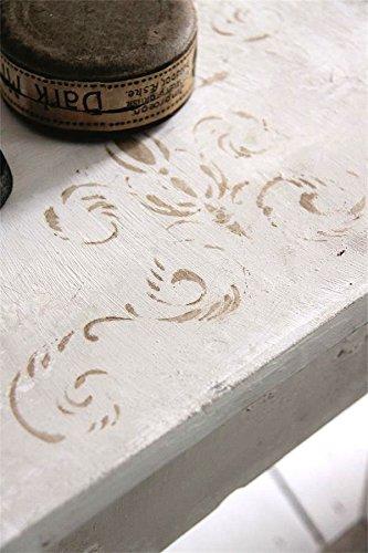 Schablone Stencil Template -Oblong Flower- Vintage Landhaus Shabby French Nostalgie von Jeanne d'...