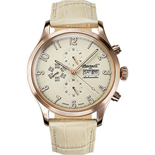 Ingersoll Damen Analog Automatik Uhr mit Leder Armband IN1416YL