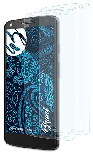 Bruni Schutzfolie kompatibel mit Motorola Moto X Force Folie, glasklare Bildschirmschutzfolie (2X)