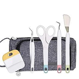 Craft Weeding Vinyl Basic Tool Set+Large Storage Bag, Crafting Tools Kit for Cricut/Silhouette/Siser/Oracal 631 651 751…
