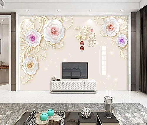 Weiß Fototapete 3D 430Cmx300Cm Rose Blume Chinese Tapeten Wandtapete Wand Dekoration Für Wohnzimmer Schlafzimmer