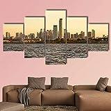 JJJKK Bilder Kunstdrucke - 5 Teilige Wandbilder - Skyline