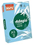Rey Adagio–Risma di 500fogli di carta 80G A3per Laser/Inkjet/Copiatrici colore blu brillante