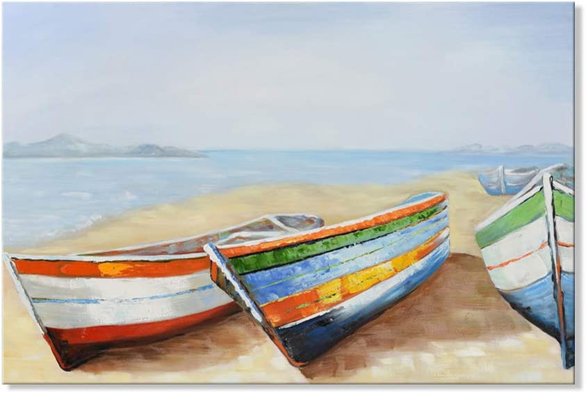 JAPO Max 56% OFF ART Philadelphia Mall Modern Boat Ship Paintings Seascape Canvas Wall Res Art