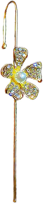 Fashion Earrings for Women Girls 2021 New 1Pc Women Ear Wrap Crawler Rhinestones Flower Butterfly Piercing Ear Cuff Hook Earring for Party