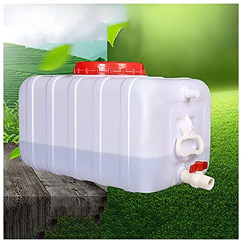 SSWZHANG Viaje Al Aire Libre Camping Tanque De Agua De Plástico Almacenamiento De Agua Contenedor De Agua Barril Puro Exterior Cubo De Plástico con Grifo 25l / 50l / 75l / 100l(Size:25L)