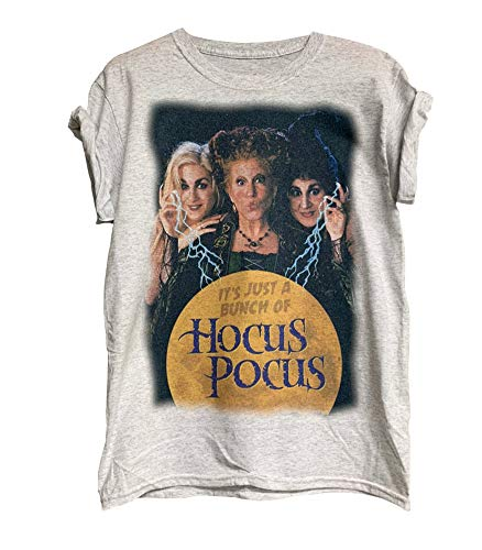 Womens Hocus Pocus Sanderson Sisters T-Shirt Funny Halloween Print Costumes Classic Movie Tee Tops (#6 Gray-1, Large)