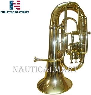Bb/F 4 Valve Flat Brass Finishing Euphonium With Free Hard Case+M/P