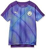 PUMA Manchester City - Camiseta de fútbol para niño, diseño de la Liga de la Justicia, English Premier League, Niños, Color Tillandsiapurple-teamlightbl, tamaño 164 cm