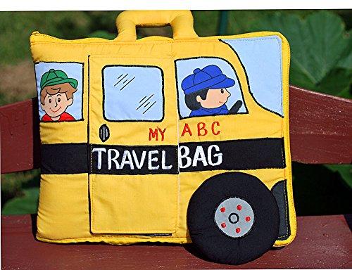 布絵本 MY ABC TRAVEL BAG  SCHOOL BUS 刺しゅうABC英語バッグ
