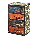 [en.casa] Cómoda para Salón o Pasillo 66 x 40 x 30 cm Armario con 4 Cajones Cajonera Organizador de Oficina Diseño Industrial Sideboard Mueble Auxiliar Multicolor