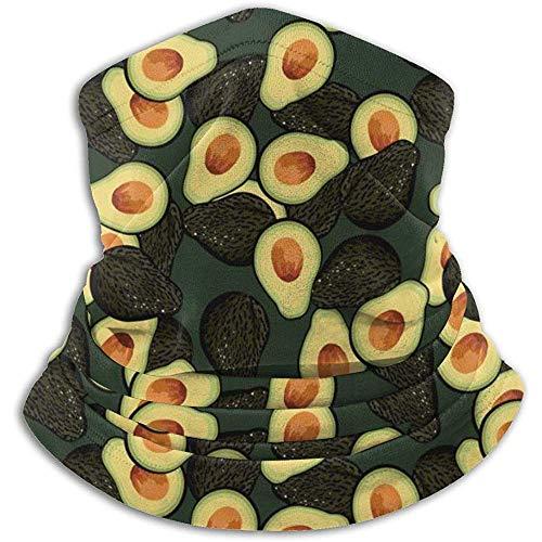 NA Avocado Pattern Fleece Neck Warmer - Reversible Hals Vielseitigkeit Ear Warmer Stirnband Maske für Männer und Frauen