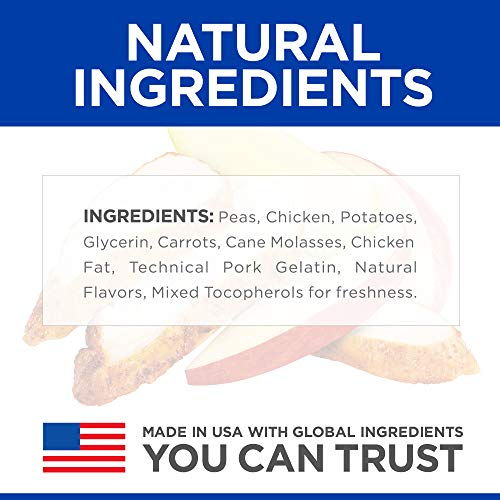Hill's Ideal Balance Natural Dog Treats, Soft-Baked Naturals with Chicken & Carrots Soft Dog Treats, Healthy Dog Treats, 8 oz Bag