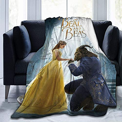 Beauty and The Beast Ultra Soft Fleece Blanket Boys/Girls/Teen/Kid Warm Flannel Blankets and Throw Blankets All Season Sofa Bed Blanket and Living Room,80'X60'