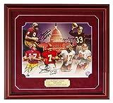 Washington Redskins Six 6 Quarterback Autographed 11x14 Limited Edition Print Sammy Baugh Sonny Jurgensen Billy Kilmer Joe Theismann Doug Williams Mark Rypien Photograph Picture Signed