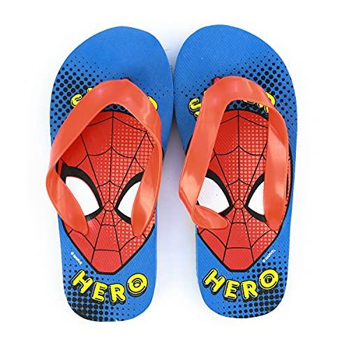 Characters Cartoons Spiderman – Enfant – Tongs Flip Flop Sandales de mer piscine – Printemps été – Produit original avec licence officielle - - 1386 rouge, 24/26 EU EU