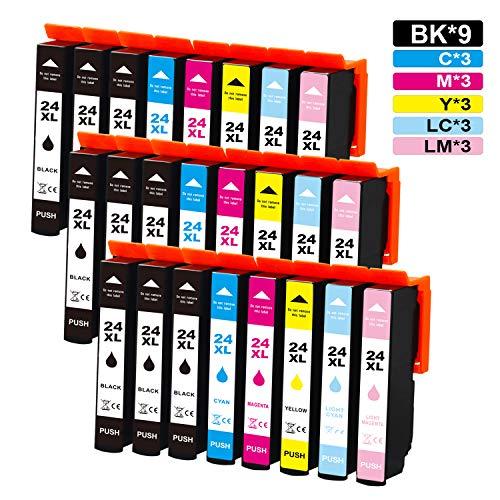 Jagute 24XL Compatibile Cartucce d'inchiostro Sostituzione per Epson 24 24XL T2431 per Stampante Epson Expression Photo XP-750 XP-760 XP-850 XP-860 XP-950 XP-960 XP-970 XP-55