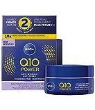 NIVEA Q10 Power Anti-wrinkle + Fragrance-free Night Moisturizer for Sensitive Skin, 50 mL
