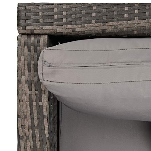 SVITA Queens 2020 Poly Rattan Sitzgruppe Couch-Set Ecksofa Sofa-Garnitur Gartenmöbel Lounge Schwarz, Grau oder Braun (Braun) - 2