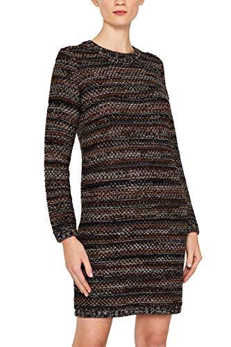 ESPRIT Collection Damen 109EO1E042 Kleid, Schwarz (Black 001), Small (Herstellergröße: S)