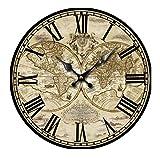 Reloj De Pared Mapa del Mundo Reloj Pared Reloj Numérico para Cocina,La Sala De Estar, Oficina, Estudio, Hotel