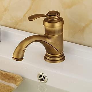 ZCYJL Bathroom Sink Faucet Copper Basin Faucet, Single Basin Faucet, Antique Copper teapot Lavatory Faucet Basin Sink Hot Cold Taps Mixer Basin Brass Sink Mixer Taps Non-Concussive Bathroom Faucets.