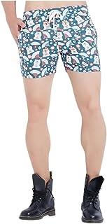 waitFOR Men Printing Swimming Trunks Elastic Waist Slim Fit Hot Pants Beach Shorts Drawstring Boxer Briefs Underwear Casua...