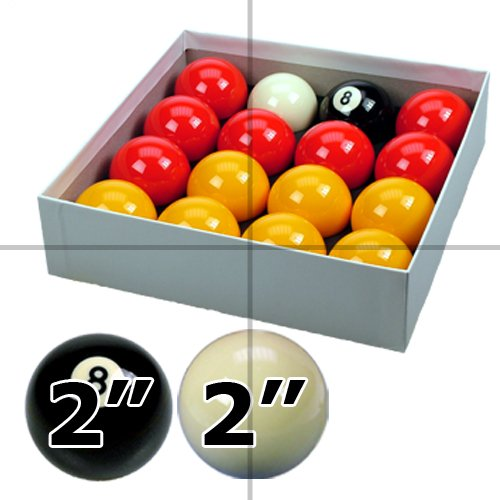 Red and Yellow 2 Pool Ball Set (2 Cue Ball) by ClubKing Ltd