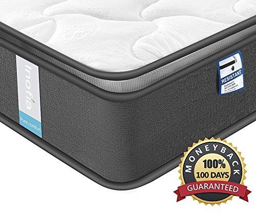 Inofia Federkernmatratze 120x200 Matratze H3 Taschenfederkernmatratze 7-Zonen,Oeko-TEX® 100,3D Memory Foam, Höhe 22 cm,100 Nächte Probeschlafen,10 Jahre Garantie(Airy Breathable, 120 x 200 cm)
