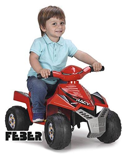 FEBER Racy - Quad Electrique pour Enfants de 18 mois à 3 ans, 6V, Rouge (Famosa...