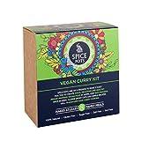 Spice Pots Vegan Curry Gift Set - Gewürzset mit 4 Currypulvern (4 x 40 g) und Rezeptheft für Vegane Küche- Glutenfrei