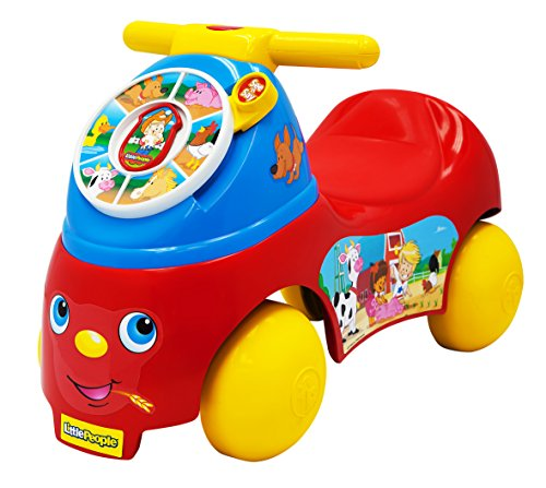 Fisher Price 8374 – FP LP See and Say Ride on, véhicule pour Enfant