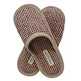 Linen & Cotton Zapatillas Pantuflas de Estar por Casa TIGO para Mujer/Hombre (EUR 41-42, Bordeaux)
