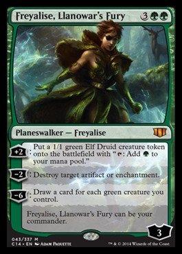 Magic The Gathering - Freyalise, Llanowar39;s Fury (043/337) - Commander 2014