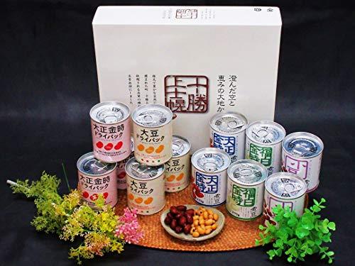 北海道上士幌の豆缶詰ギフトセット 煮豆&ドライパック12缶(大正金時・福白金時・小豆・大豆)