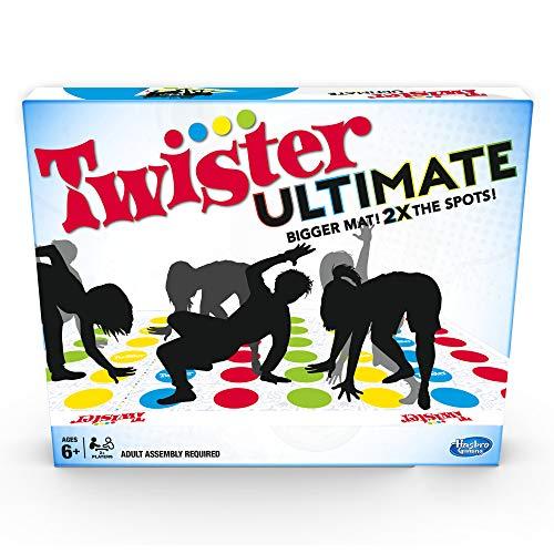 Twister Ultimate: Alfombrilla más Grande, más Puntos de Color, Familia, Juego de Fiesta para niños a Partir de 6 años; Compatible con Alexa (Exclusivo de Amazon)