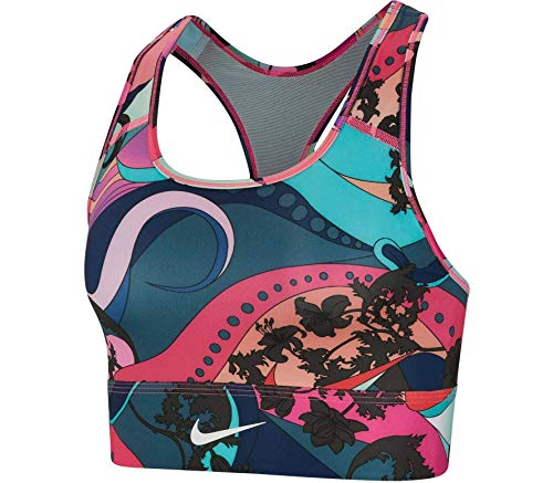 Nike Damen Swoosh Icon Clash PRT BH, Hyper Blue/Twilight Marsh/Whit, S