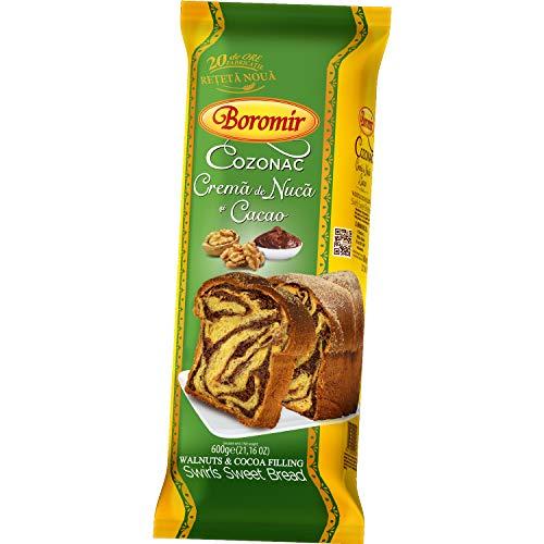 Cozonac - Walnuts & Cocoa Filling Swirls Sweet Bread - Boromir - 400 g…