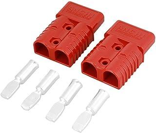 2 Stück 175A 600V Batterie Schnellkupplungswinde, Stecker Kontaktabdeckung rot mit 4 Zubehörteilen