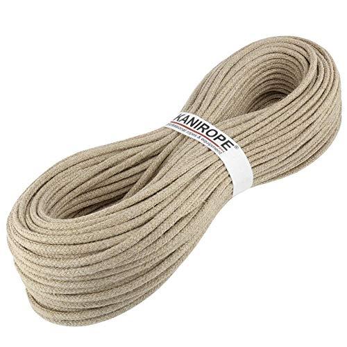 Kanirope® Hanfseil Seil Hanf HEMPBRAID 5mm 20m 16-fach geflochten