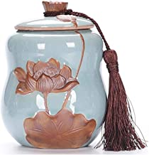 SF Urn,Pet Urn,Pet Casket, Pet Coffin, Pets Are Available, Cat And Dog Death Souvenirs, Sealed Cans, Moisture-proof Sealed Urns, Pets, Ceramic Jars, High-grade Materials, Ceramic Urns, Lotus Drawing