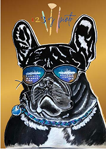 123YPINTO French Bulldog Paint by Numbers Kit