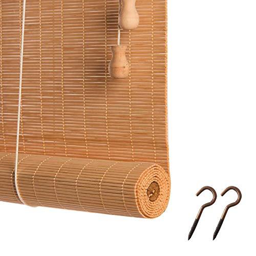 DIYH Rideau en Bambou Store Enrouleur Rétro - Store Pare Soleil pour Terrasse - Rideau Moisissure Imperméable À l eau, Taille Personnalisable, Facile À Assembler, pour Fenêtres, Extérieur, Intérieur