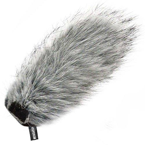 keepdrum WS03 Fell-Windschutz passend für Rode Videomic Pro Kamera Mikrofon